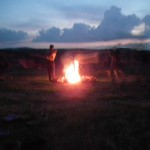 Odpalanie kręgów - odpalanie Nowego Świata 3 D na polanie w Smolniku