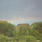 Tęcza przed odpalaniem ostatnich kręgów w Smolniku - znak, że kręgi wystarują